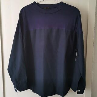 バンヤードストーム(BARNYARDSTORM)のused美品バンヤードストームサンプル品バイカラートップスネイビー(Tシャツ(長袖/七分))