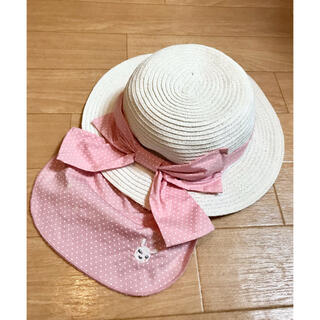 coeur a coeur - クーラクール 可愛い麦わら帽子 48cm