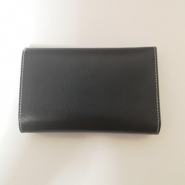 WHITEHOUSE COX(ホワイトハウスコックス)のホワイトハウスコックス 三つ折財布 リージェント ブラック メンズのファッション小物(折り財布)の商品写真