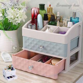 コスメボックス 2D メイクボックス収納ケース スタンド化粧品入れ コスメ収納 (メイクボックス)
