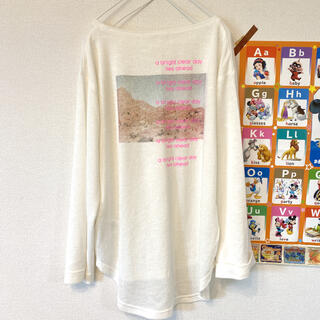 ケービーエフ(KBF)のKbf 長袖カットソー ネオンロゴTシャツ バックプリント 美品(Tシャツ(長袖/七分))