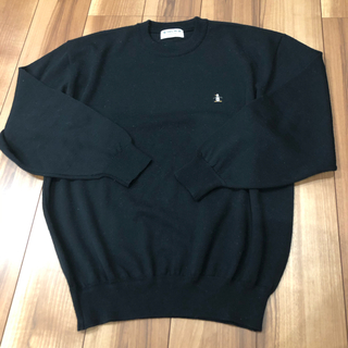 マンシングウェア(Munsingwear)のゴルフウェア/MUNSING WEAR/黒ニットトレーナー/LLサイズ(ニット/セーター)