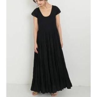 ドゥーズィエムクラス(DEUXIEME CLASSE)の新品タグ付き MARIHA / 草原の虹のドレス ネイビー 36(ロングワンピース/マキシワンピース)
