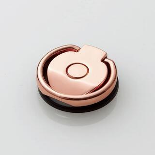 エレコム(ELECOM)のスマホリング フィンガーリング 360°回転 ピンク(その他)