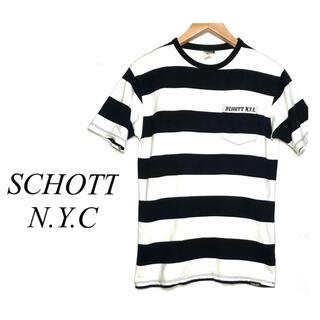 ショット(schott)のSCHOTT ショット ビッグボーダー ポケット付き Tシャツ ポケT(Tシャツ/カットソー(半袖/袖なし))