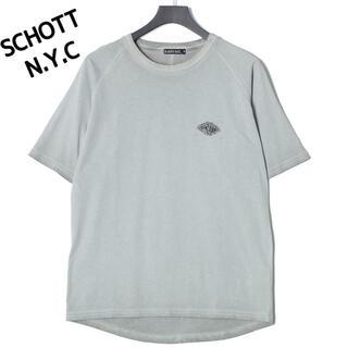ショット(schott)の【新品】Schott ショット 半袖Tシャツ XLサイズ グレー(Tシャツ/カットソー(半袖/袖なし))