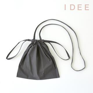 イデー(IDEE)のIDEE  Drawstring Bag Strap  巾着バッグ グレー SS(ショルダーバッグ)