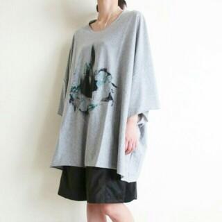 オータ(ohta)の【幻想的】balmung オーバーサイズビックTシャツ(gray)(Tシャツ/カットソー(半袖/袖なし))