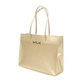 ミルク(MILK)のMILK レザートート(ゴールド)(トートバッグ)