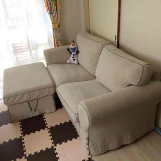 イケア(IKEA)のソファ&スツール♡(三人掛けソファ)