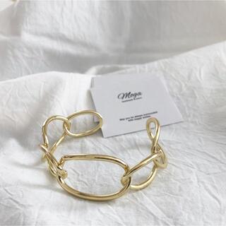 エイミーイストワール(eimy istoire)のゴールド デザインバングル フリーサイズ  インポート (ブレスレット/バングル)