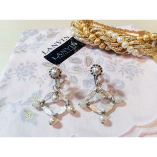 クリスチャンディオール(Christian Dior)のディオール イヤリング 髪飾り ランバン ハンカチ(イヤリング)