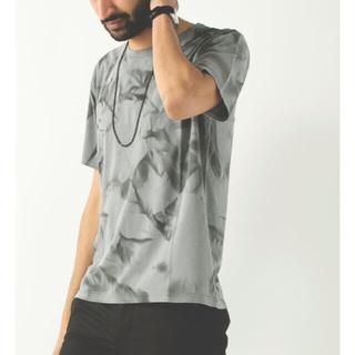 オーレット(OURET)のUネック半袖 -クラッシュ染め強撚スムース(Tシャツ/カットソー(半袖/袖なし))