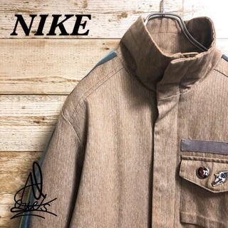 ナイキ(NIKE)の《激レア》NIKE ナイキ ジャケット ライトブラウン♤ 刺繍ロゴ 薄茶色 L(その他)