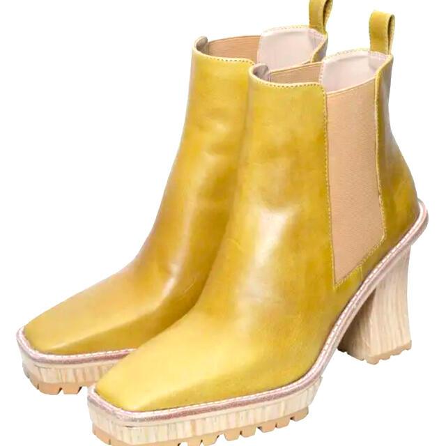 Ameri VINTAGE(アメリヴィンテージ)のAmeri VINTAGE /イエローサイドゴアブーツ レディースの靴/シューズ(ブーツ)の商品写真