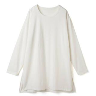 グレイル(GRL)のGRL グレイル USAコットンサイドスリットロンT オフホワイト(Tシャツ(長袖/七分))