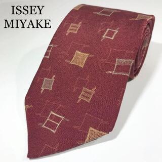 イッセイミヤケ(ISSEY MIYAKE)のイッセイミヤケ 日本製 高級シルク ネクタイ 小紋柄 三宅一生(ネクタイ)