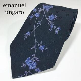 エマニュエルウンガロ(emanuel ungaro)のエマニュエルウンガロ 日本製 高級シルク ネクタイ パネル柄 花柄(ネクタイ)
