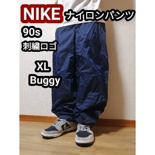 ナイキ(NIKE)の90s 90年代NIKE ナイキ ナイロンパンツ ワイドパンツ バギーパンツXL(サルエルパンツ)