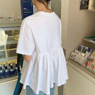 ザラ(ZARA)のバックフリル Tシャツ(その他)