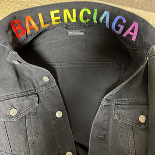 Balenciaga - バレンシアガ デニムジャケット 正規品 Gジャン ブラック レシート、カード等有