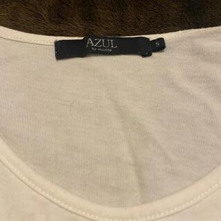 アズールバイマウジー(AZUL by moussy)のAZUL 白のトップス サイズs(カットソー(半袖/袖なし))