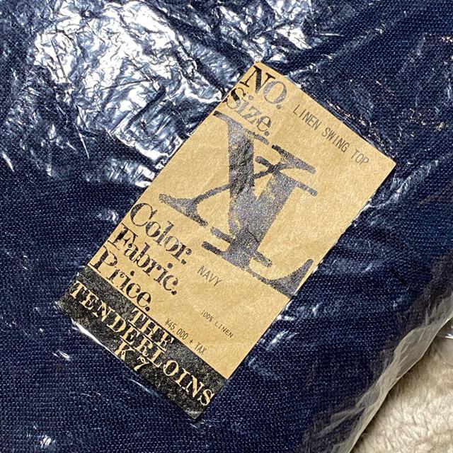 TENDERLOIN(テンダーロイン)のTENDERLOIN LINEN SWING TOP NAVY XL メンズのジャケット/アウター(ブルゾン)の商品写真