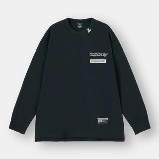 ミハラヤスヒロ(MIHARAYASUHIRO)の新品未使用 GU ミハラヤスヒロ ビッグT(長袖)MY +E 黒 XL(Tシャツ/カットソー(半袖/袖なし))