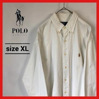 Ralph Lauren - 90s 古着 ポロラルフローレン BDシャツ オーバーサイズ 刺繍ロゴ XL