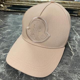 モンクレール(MONCLER)の美品☆ MONCLER モンクレール ロゴ キャップ 帽子(キャップ)