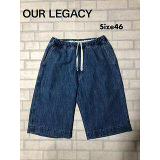 アクネ(ACNE)の15SS Our Legacy デニムショーツ 46 インディゴ 美品(ショートパンツ)