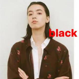 JOHN LAWRENCE SULLIVAN - ttt_msw 20aw flower knit polo black