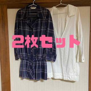 プーラフリーム(pour la frime)の七分袖シャツ2枚セット M〜Lサイズ(シャツ/ブラウス(長袖/七分))