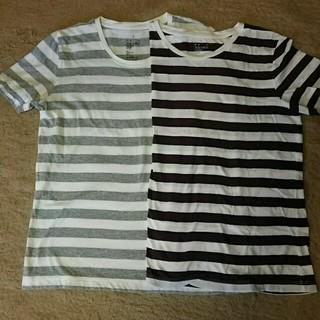 ムジルシリョウヒン(MUJI (無印良品))の無印 ボーダーT 2015購入Lサイズ2枚(Tシャツ(半袖/袖なし))