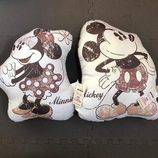 ディズニー(Disney)の新品タグ付き ディズニー ミッキー&ミニー ビンテージ風 クッション 2個セット(クッション)