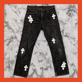 Chrome Hearts - Levi's 505(W33 / 84cm)革パッチカスタム