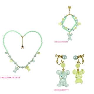 アンジェリックプリティー(Angelic Pretty)のJelly Candy Toysネックレス ブレスレット イヤリング ミント(ネックレス)