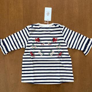 コンビミニ(Combi mini)のコンビミニ 新品 100 Tシャツ フラワー刺繍(Tシャツ/カットソー)