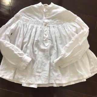 サイ(Scye)のScye サイ リネン タックシャツ ホワイト38サイズ(シャツ/ブラウス(長袖/七分))