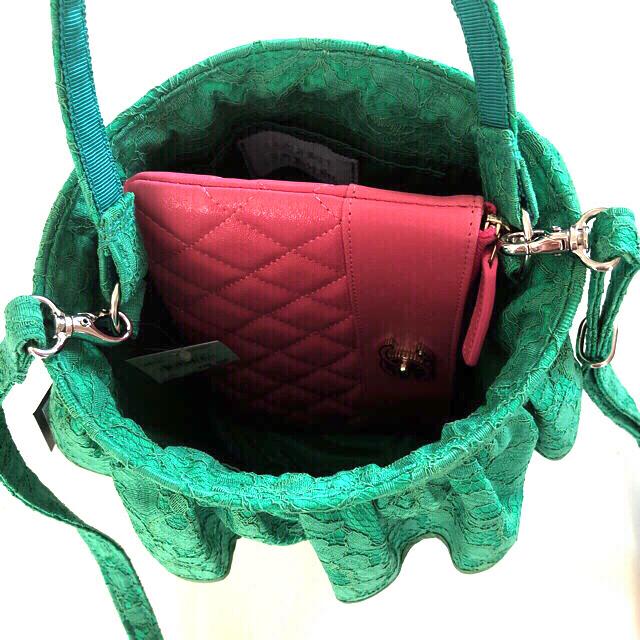 LUDLOW(ラドロー)の💜セツコサジテール💜タグ付き❣️新品未使用品✨シティ レース グリーン💚 レディースのバッグ(ショルダーバッグ)の商品写真