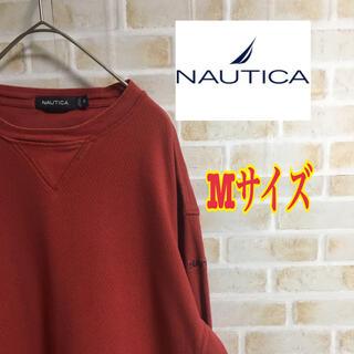 ノーティカ(NAUTICA)の【大人気】ノーティカ スウェット M  赤 ヴィンテージ 刺繍ロゴ 激レア(スウェット)