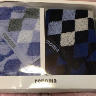レノマ(RENOMA)のレノマ タオルハンカチ 2種×2枚組(ハンカチ/ポケットチーフ)