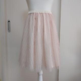 レストローズ(L'EST ROSE)のレストローズ♡チュールストライプスカート(ひざ丈スカート)