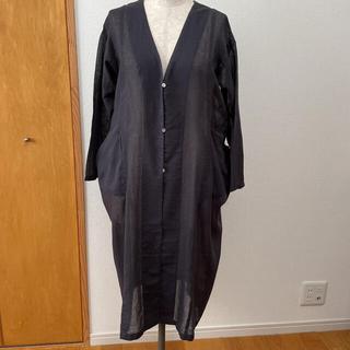 エヴァムエヴァ(evam eva)の新品未使用 evam  eva long gauze robe(カーディガン)