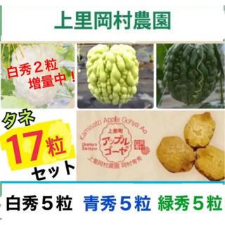 50161★AGT17★寅さんのアップルゴーヤの種3色セット(合計17粒(野菜)