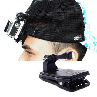 ゴープロ(GoPro)の改良版)ネジ付GoPro360°回転式カメラクリップ取り付スタンドスマートフォン(その他)