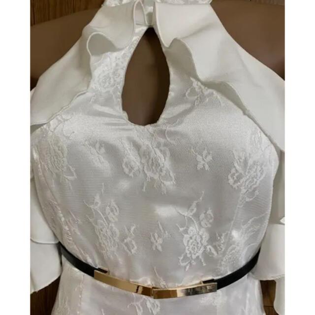 JEWELS(ジュエルズ)のサテンレース/フリル/オープンショルダードレス レディースのフォーマル/ドレス(ミニドレス)の商品写真