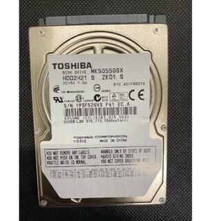 トウシバ(東芝)の「動作OK+午前発送+送料無料」東芝 2.5インチ SATA HDD 500GB(PCパーツ)
