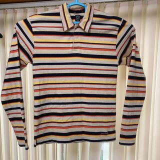 ピーピーエフエム(PPFM)のPPFM 長袖ボーダーポロシャツ FREE size(Tシャツ/カットソー(半袖/袖なし))