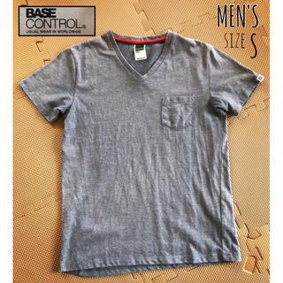 ベースコントロール(BASE CONTROL)の[BASE CONTROL]メンズ◆ブルーグレー系 半袖Tシャツ Vネック S(Tシャツ/カットソー(半袖/袖なし))